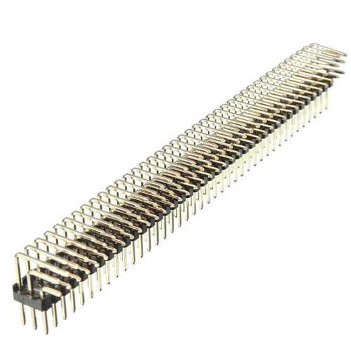2.54mm 3x40P Male Pins Three Row Right Angle Pin Header