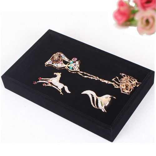 Black Bracelet Necklace Storage Organizer Show Case Jewelry Display