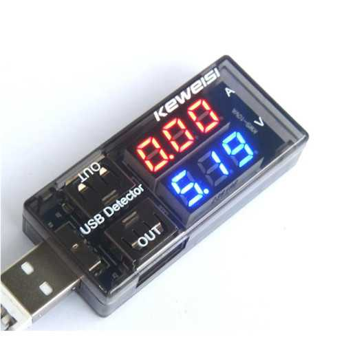 USB Detector Current Voltage  3V-9V Tester Double USB Row Shows