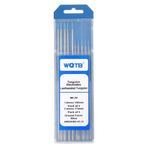 10pcs/set WL20 TIG Welding Tungsten Electrode 1.6mmx150mm +2.4mmx175mm