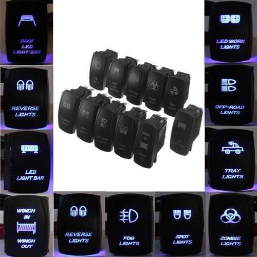 12V Dual Backlit LED Laser Etched ARB Carling Rocker Switch