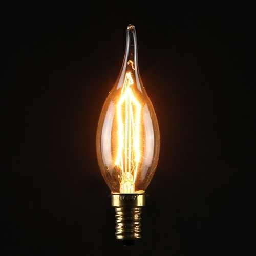 C35 40W E14 Vintage Antique Edison Carbon Filamnet Clear Glass Bulb 220V