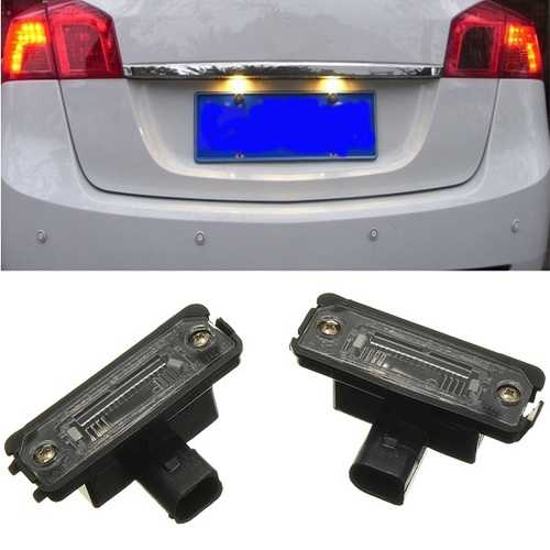 Car License Mumber Light Plate Lamps For Volkswagen Golf