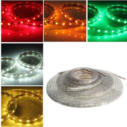 10M 5050 Waterproof IP67 Flexible Led Strip Light For XMAS Home Decor 110V