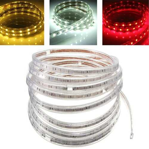 5M 5050 Waterproof IP67 Flexible Led Strip Light For XMAS Home Decor 110V