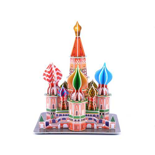 3D Paper Jigsaw Puzzle ST Basil's Cathedral DIY Blocks Toys
