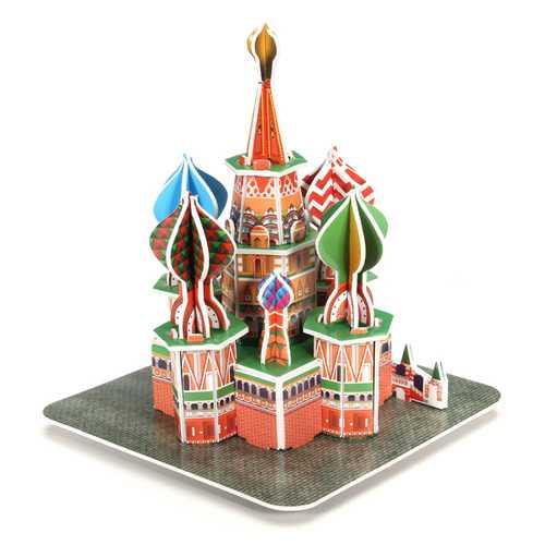 3D Jigsaw Puzzle ST Basil's Cathedral Mini DIY Model B668-16