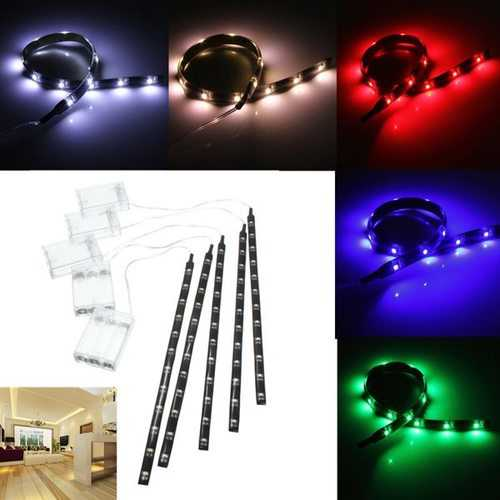 4.5V Battery Operated 30CM LED Strip Light Waterproof Craft Lights Hobby Light