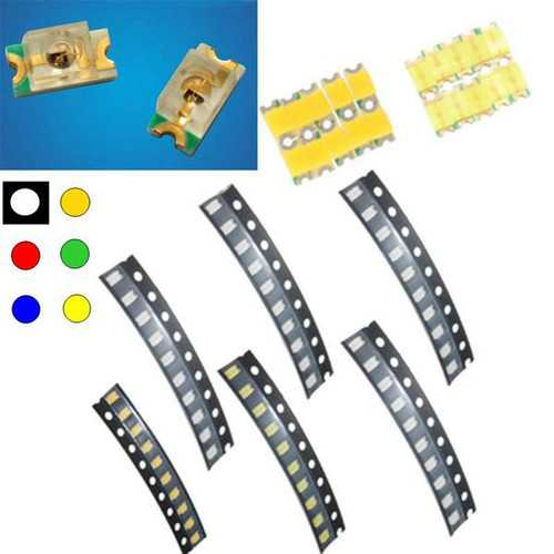 10 pcs 1206 Colorful SMD SMT LED Light Lamp Beads For Strip Lights
