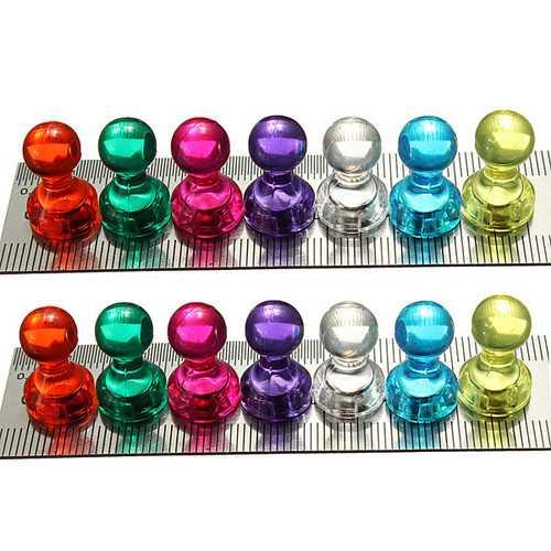 14pcs Strong Magnetic Thumbtacks Neodymium Pins Fridge Magnet Teaching Painting Thumbtack