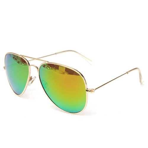 UV400 Men Silver Mirror Pilot  Metal  Frame  Sunglasses Shades Glasses