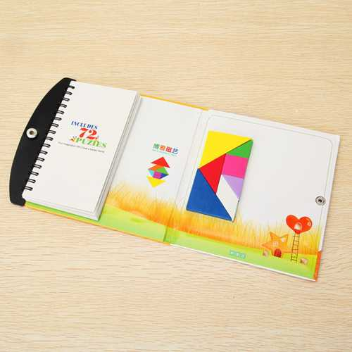 Boya Magnetic Tangram Educational Puzzle Toy 72 Questions 72 Patterns