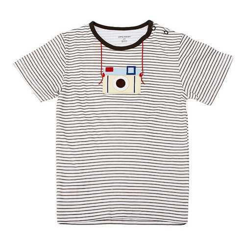 2015 New Little Maven Lovely Camera Baby Children Boy Cotton Short Sleeve T-shirt Top