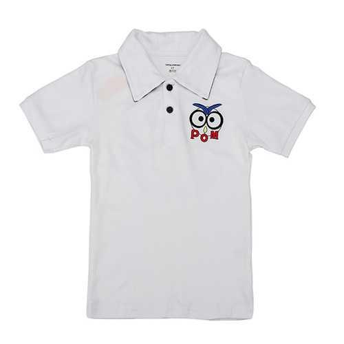 2015 New Little Maven Lovely Bird Collared Baby Children Boy Cotton Short Sleeve T-shirt T