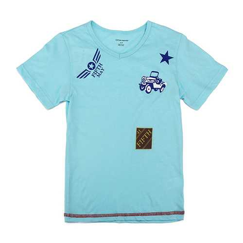 2015 New Little Maven Lovely Car Baby Children Boy Cotton Short Sleeve T-shirt Top