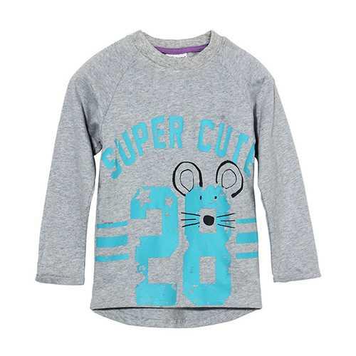 2015 New Little Maven Lovely Number Baby Children Boy Cotton Long Sleeve Top