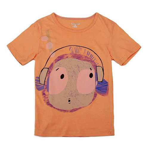 2015 New Little Maven Lovely Headset Boy Baby Children Boy Cotton Short Sleeve T-shirt