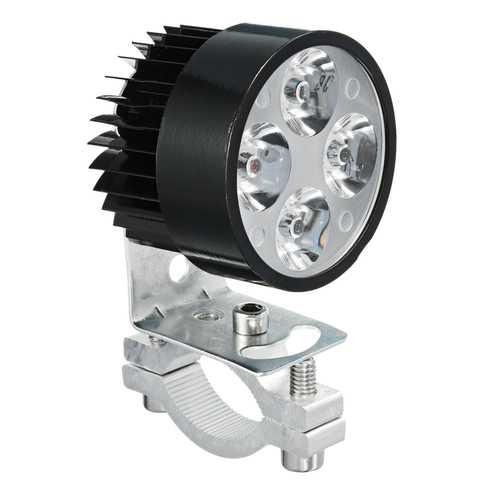 12V 1000LM 6500K White Universal Motorcycle LED Front Spot Lightt Headlight Lamp