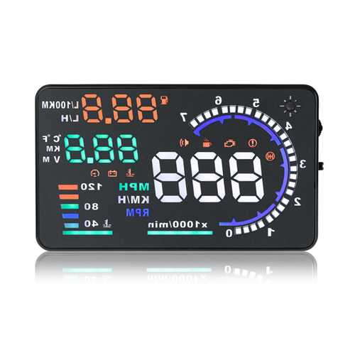 A8 5.5inch Car HUD Head Up Display with OBD2 Interface Plug