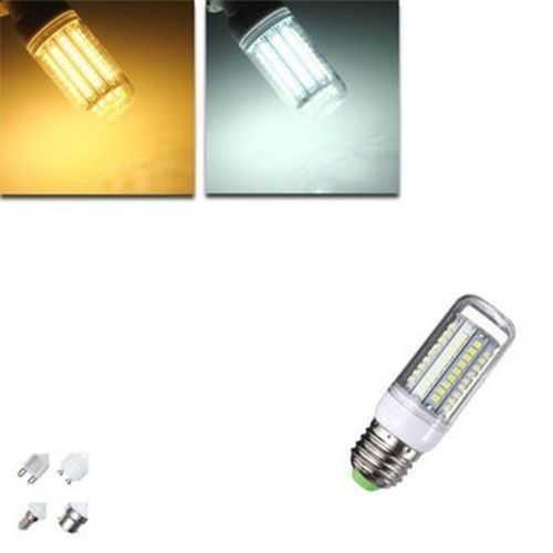 E14 E27 G9 GU10 B22 6W 500 600LM 102 SMD 2835 LED Corn Bulb White Warm White 220V 240V