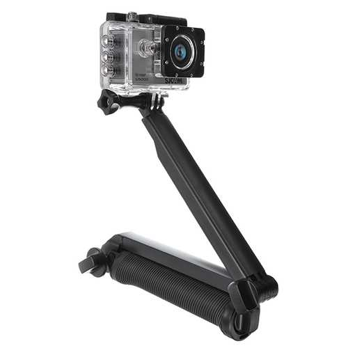 3-Way Tripod Stand Handle Rod Self for GoPro Hero4/3 SJCAM SJ4000 SJ5000 SJ5000X SJ5000 Plus M10 X1000  Xiaomi yi Gitup 1 2 M20 Camera