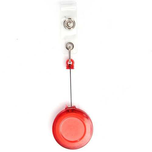 Retractable Pull Chain Badge Pass ID Card Holder Reel Recoil Key Ring Belt Clip