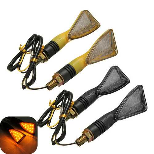 12V 12LED Universal Motorcycle Turn Signal Indicator Light Lamp Amber