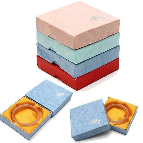 Square Paper board Bracelet Bangle Jewelry Gift Box Storage Case