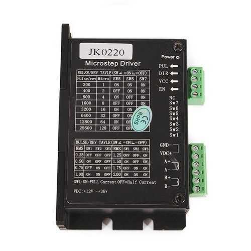JKM JK0220 Two Phase Hybrid Stepper Motor Driver  DC12V-36V 0.3A-2.0A For CNC Robots