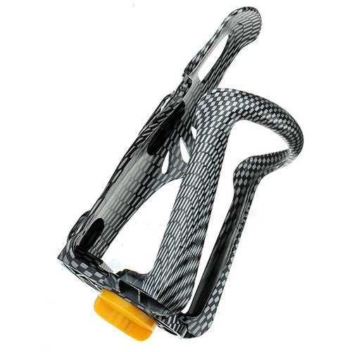 Bicycle Water Bottle Cage Adjustable Cup Holders Carbon Pattern Water Bottle Cage