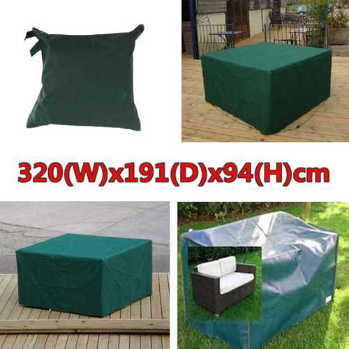 320cmx191x94cm Waterproof Garden Outdoor Furniture Dust Cover Table Shelter