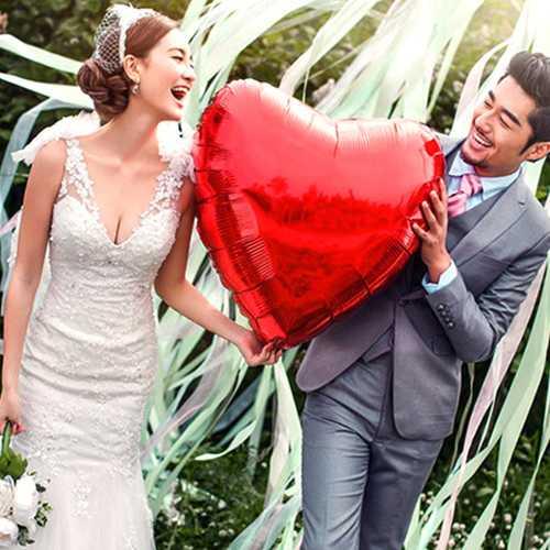36 Inch Aluminum Foil Heart Balloon Wedding Party Proposal Love Balloons Decoration