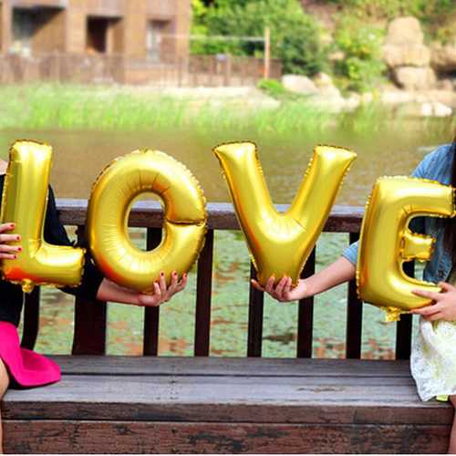 16 Inch Aluminum Foil  LOVE Balloon Wedding Proposal Party Decoration Love Balloons
