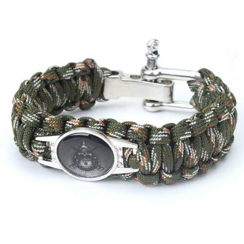 Outdoor Camping Paracord Survival Weave Bracelet Nylon Rope Kits Bangle