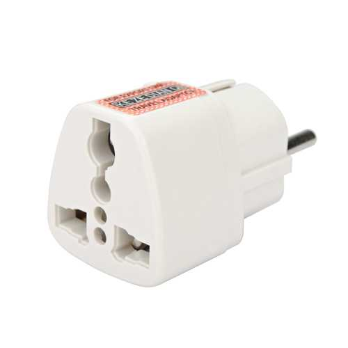 US To EU Travel AC Power Socket Plug Adapter Adaptor Converter