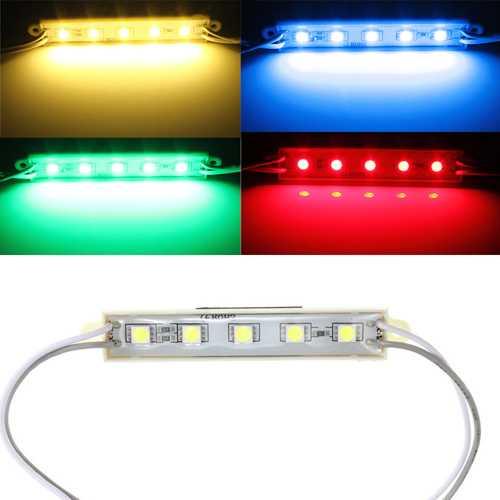 5 Colors 5 SMD 5050 LED Module Light Waterproof Strip Light Lamp 12V