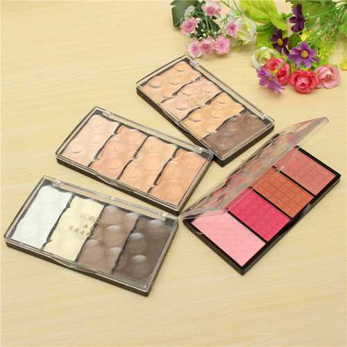 4 Colors Cosmetic Makeup Eye Shadow Highlight Shading Blush Powder