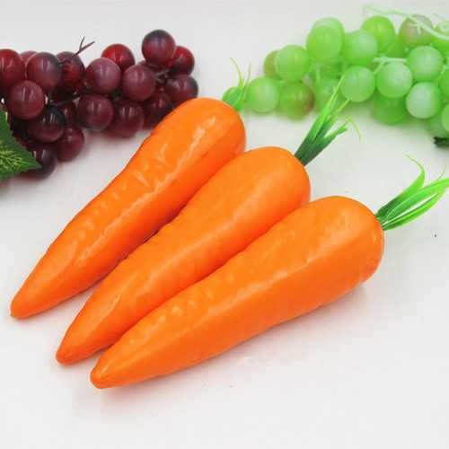Fake Fruit Model Red Artificial Carrot Kitchen Cabinet Decor Learning Photography Props