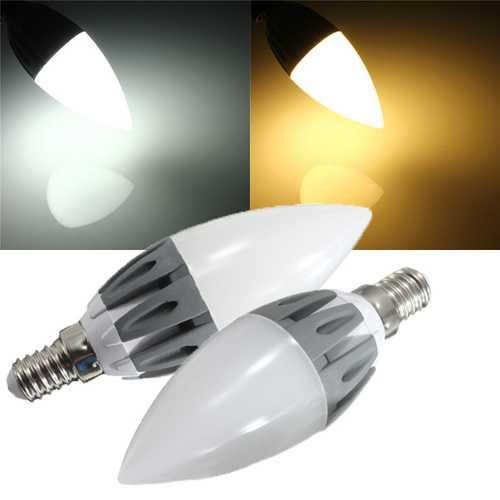 C37 E14 3W Warm White/White SMD2835 15LEDS 230lm 110-240V