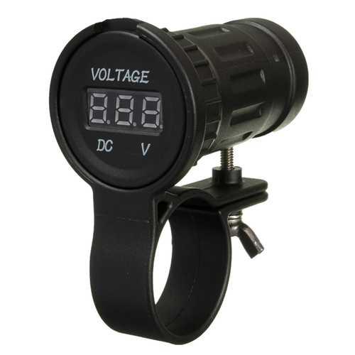 12-24V Motorcycle Volt Meterr LED Display Voltage Gauge Meter Volt Measurement