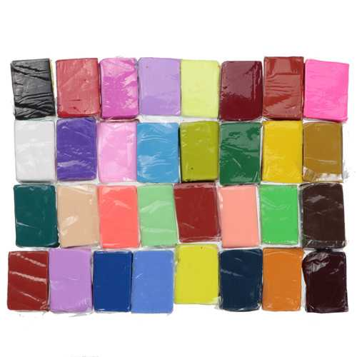 32 Colors Polymer Clay Fimo Block Modelling Moulding Sculpey DIY Toy 5 Tools