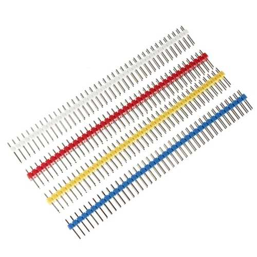 10pcs 2x40P 40Pin 2.54mm Straight Double Row Male Pin Header Strip