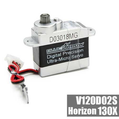 BLUEARROW D03018MG Digital Precision Ultra-Micro Metal Gears Servo For XK K120 K130 Walkera V120D02S 130X RC Helicopter