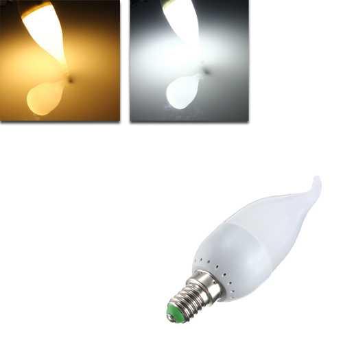 E14 3W White Warm White LED Candle Flame Light Chandelier Bulb AC 220V