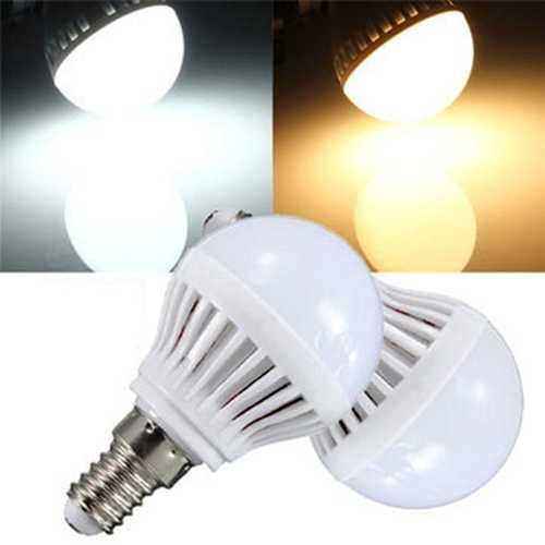 E14 3W 150-160LM 2835 SMD Warm White/White LED Globe Bulb 110V