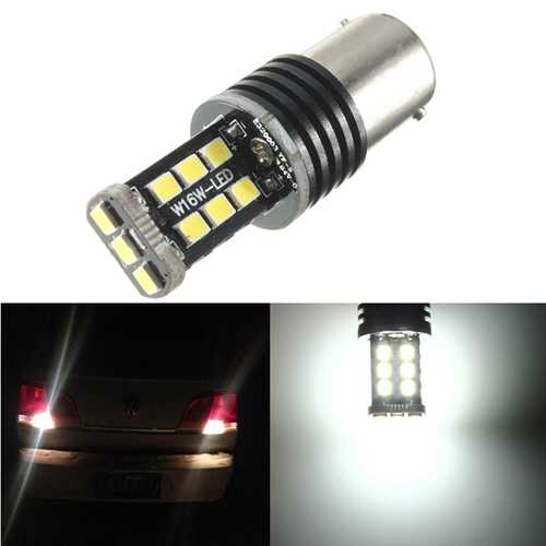 1156 BA15S 382 P21W 15 SMD White LED Turn Reverse Light Bulb