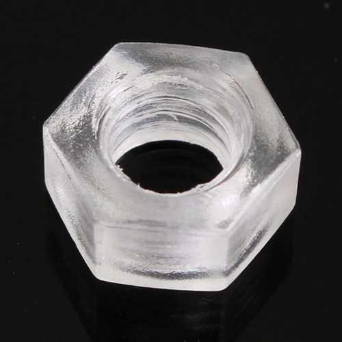 20pcs M3 to M6 PC Transparent Screws Nylon Screws Plastic Screws Nuts