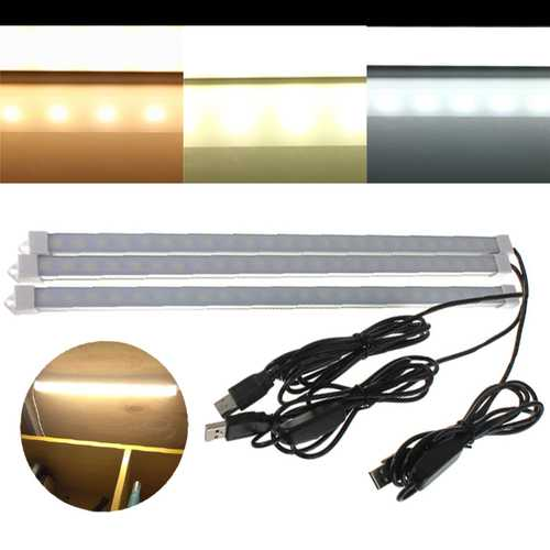 35CM 7W 24 SMD 5630 Warm White/Natural White/Pure White USB Rigid Strip Light DC 5V