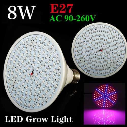 8W E27 Garden Plant Growth LED Bulb Greenhouse Plant Seedling Light