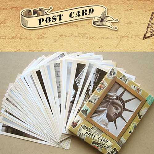 32pcs Cherished Classical Famous Europe Building Greeting Card Post Card Cards Poscards